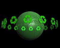 Recycling op aarde 2 Royalty-vrije Stock Fotografie