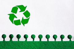 Recycling Paper. Recycle the paper, save the trees concept Royalty Free Stock Photos