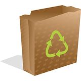Recycling paper bag Royalty Free Stock Photography