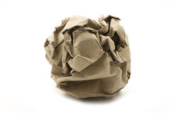 Recycling paper ball Royalty Free Stock Images