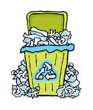 Recycling paper bin Royalty Free Stock Images