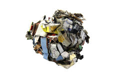 Recycling paper concept isolated Royalty Free Stock Photos