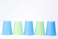 Recycling paper glass. Row of recycling paper glass Stock Image