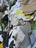 Recycling paper in a row Stock Photos