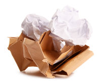 Recycling paper on white Royalty Free Stock Photography