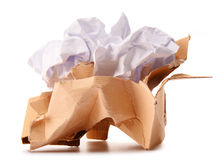 Recycling paper on white Stock Photography