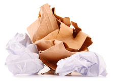 Recycling paper on white Stock Photos