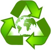 Recycling Planet Symbol Royalty Free Stock Image
