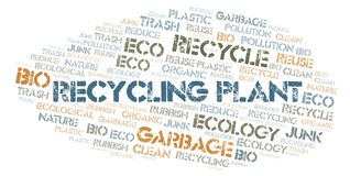 Recycling Plant word cloud stock illustration