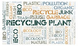 Recycling Plant word cloud. Wordcloud made with text only stock photography