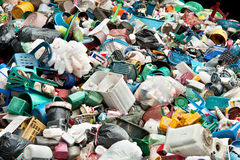 Recycling Plastic. Recycling old Plastic in junkyard Royalty Free Stock Photography