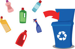 Recycling plastic royalty free illustration