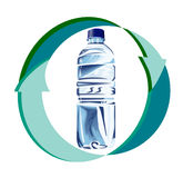 Recycling plastic bottle Stock Photo