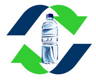 Recycling plastic bottle Stock Images