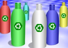 Recycling plastic bottles Stock Images
