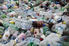Recycling plastic bottles Stock Photos