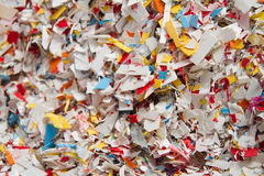 Recycling plastic particles Stock Photo