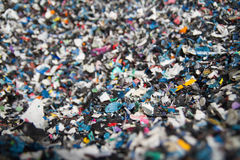 Recycling plastic particles Stock Images