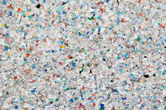 Recycling Plastic. Plate made from recycled plastic waste stock photo