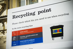 Recycling point Royalty Free Stock Image