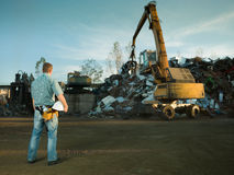 Recycling in progress Royalty Free Stock Images