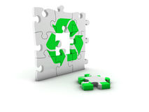 Recycling puzzle Royalty Free Stock Photography