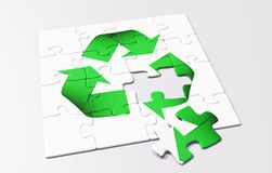 Recycling puzzle Royalty Free Stock Photo