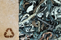 Recycling raw materials. Ecological concept Royalty Free Stock Image