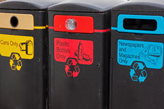 Recycling receptacles Stock Photography