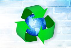 Recycling. Environment  symbol green earth environmental conservation globe royalty free illustration