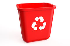 Recycling red container Royalty Free Stock Photography