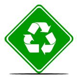Recycling road sign Royalty Free Stock Images
