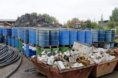 Recycling scrap metal Royalty Free Stock Image