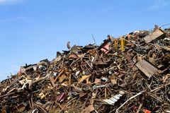 Recycling Scrap Metal Stock Image
