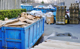 Recycling. Scrap yard with recycled materials Stock Image