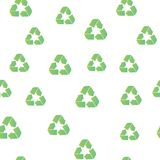 Recycling seamless pattern cover. Recycling icon creative design. Wallpaper, web design, textile, printing and UI and UX usage. Recycling seamless pattern cover stock illustration