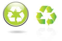 Recycling sign. Green recycling sign with gradient Stock Photography