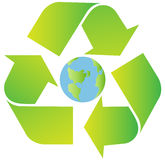 Recycling sign. Green recycling sign with gradient Stock Photo