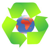 Recycling sign. Green recycling sign with gradient Stock Photos