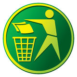 Recycling Sign. Label,  Button Icon Royalty Free Stock Photography