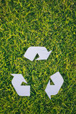 Recycling Sign Background Royalty Free Stock Images