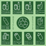 Recycling sign collection 1 Royalty Free Stock Photography
