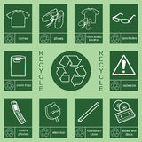 Recycling sign collection 2. Individually layered recycling sign collection 2 Royalty Free Illustration