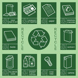 Recycling sign collection 3. Individually layered recycling sign collection 3 Royalty Free Illustration