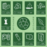 Recycling sign collection 4 Royalty Free Stock Image