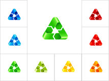 Recycling sign logo design template Royalty Free Stock Image