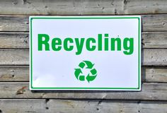 Recycling sign Stock Images
