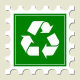 Recycling Sign Stamp. Recycling Sign Green Stamp (Vector Royalty Free Stock Image