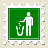 Recycling Sign Stamp Stock Photo