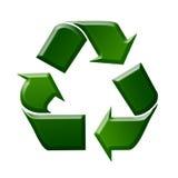 Recycling Sign / Symbol Illustration. Green Recycling Sign / Symbol Illustration, White Background Stock Photos